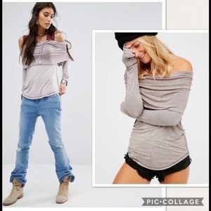NWT Free People Cosmo Of Shoulder Top